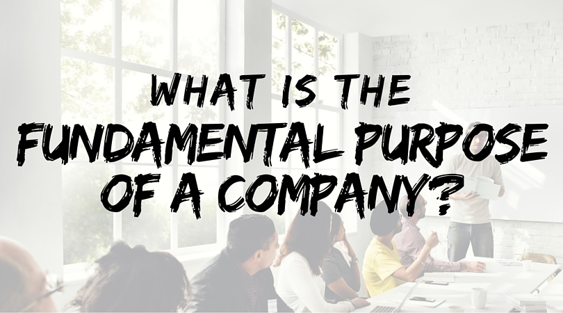 what is the purpose of a company